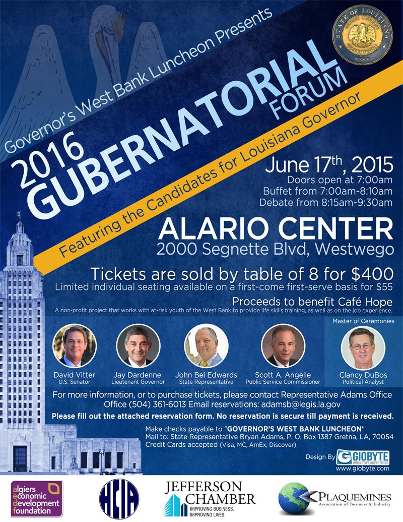 2016 Gubernatorial Forum Digital Flyer